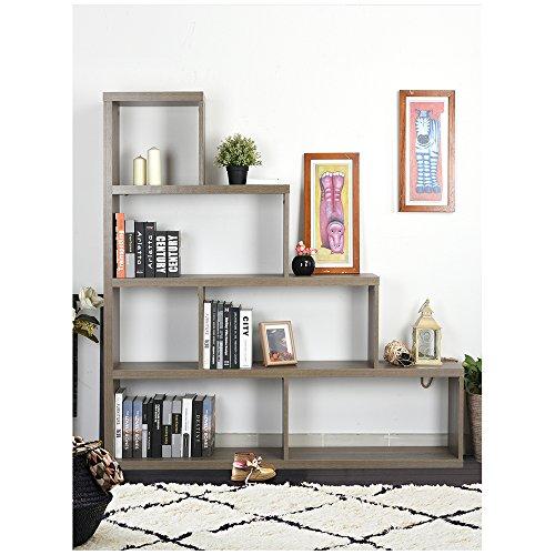 Homy Casa Inc. homycasa Organizer Bücherregal, Ebenholz Asche, Regal, Bücherregal, Würfel, die sich der bookcasese, tranitional-Stil, Holz-Bücherregal (Asche Bücherregal)
