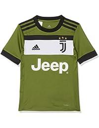 Adidas JUVE 3 JSY Y Camiseta 3ª Equipación Juventus 2017-2018, niños, Verde (Verart/Negro), 164