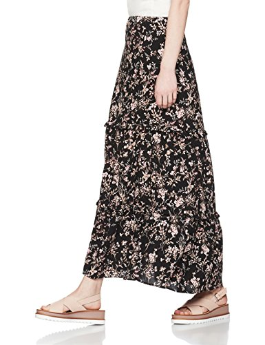 find-womens-floral-tiered-maxi-skirt-black-black-mix-medium