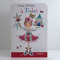 Jonny Javelin Princess Age 4 Birthday Card