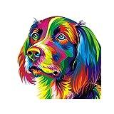 Decoración de Pared Colgante Lienzo HD Pintura de Arte Noframe Adornado Foto-perro Impresión Regalo - 20x20cm