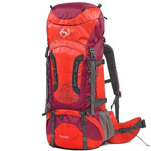 YYY-All'aperto 60 70 L + 10 L + 10 alpinismo professionale borsa zaino , red (60+10) red (60+10)
