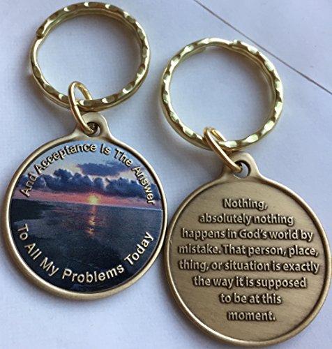 Acceptance ist die Antwort Beach Sunrise Farbe Bronze Schlüsselanhänger AA Seite 449417