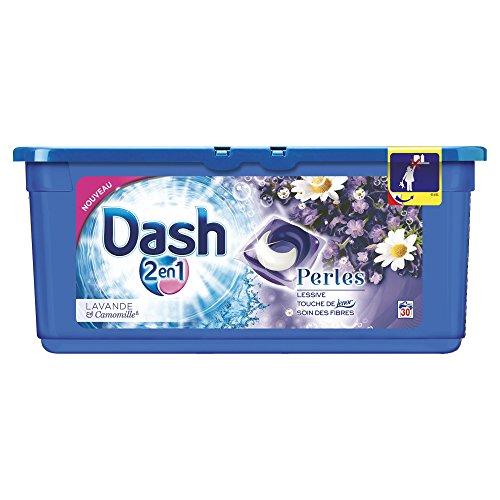 Dash 2en1 - Perles - Lessive Capsules Lavande & Camomille - 30 Lavages - Lot de 2