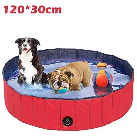 Hundepool Große Hunde Badewanne Haustier Klappbar Pool Bade für Haustier Schwimmen Pool Planschbecken Hundebadewanne…