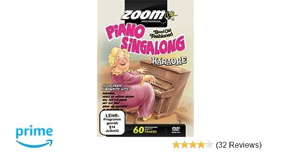 Zoom Karaoke DVD - Piano Singalong - 60 Songs: Amazon co uk