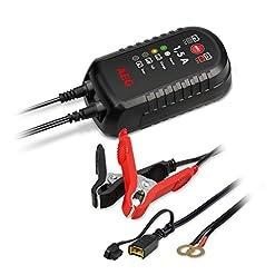 AEG Automotive 97024 Caricabatterie a microprocessore LT 10 Ampere per batterie da 12 e 24 V, 9 Livelli, LT10 Amp