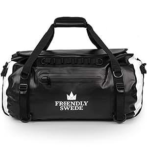 The Friendly Swede Waterproof Duffel Bag Backpack Roll-Top Dry Bag 35L, Welded Seams, Eco-Friendly PVC, Ergonomic Straps - VAXHOLM