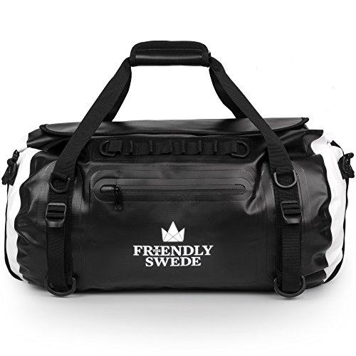 The Friendly Swede Wasserdichter Duffle Bag Rucksack - Reisetasche Segeltasche 35L - versiegelte Nähte, ergonomische Gurte und Rollverschluss, aus robuster LKW Plane - VAXHOLM
