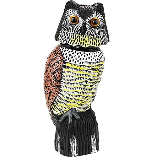 PrimeMatik - Ahuyentador Aves Tipo Estatua búho Ojos