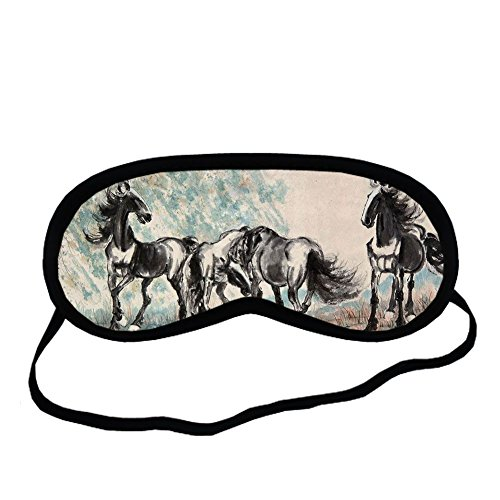 Thin Boys Have Asian Horse Artists For Sleeping Mask Pure Cotton