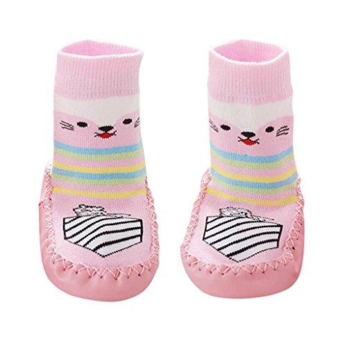 Covermason Kleinkind Baby Anti-Rutsch Sock Schuhe Stiefel Rosa