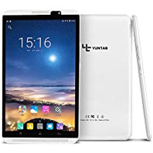 Yuntab H8 4G LTE Tablet - 8 pulgadas Tablet Phone( Quad-core, 64 bits, Android 6.0, 2GB +16GB, WiFi+4G, Touchscreen IPS 800 x 1280, DuaL SIM, Doble Cámara, Bluetooth4.0, Google Play Store) (Blanco)
