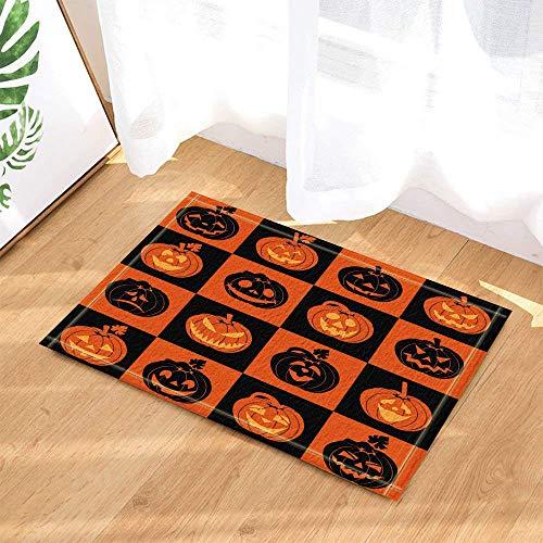 Kwboo Halloween-Dekoration. Verschiedene Ausdrücke Von Schwarzen Und Gelben Kürbissen In Den Quadraten. (Ausdrucke Dekoration Halloween)