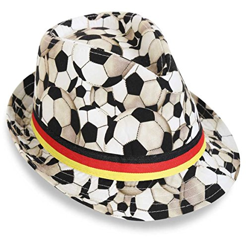 KarnevalsTeufel Trilby Fußball Fan Hut - Fußball Fan Kostüm
