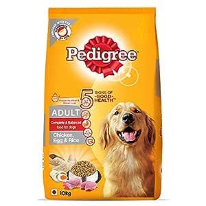 Pedigree Adult Dry Dog Food, (High Protein Variant) Chicken, Egg & Rice, 10kg Pack