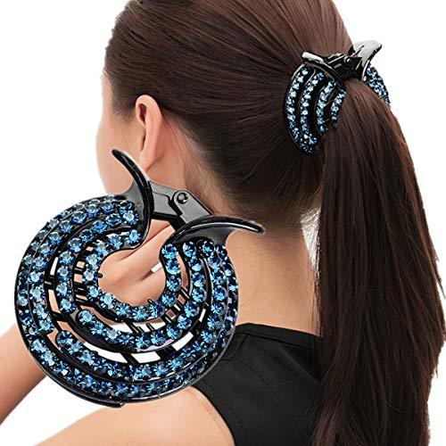 cuhair DIY Handgefertigte Kristall Haarschmuck Haarschmuck Haarkralle Strass Frauen Frauen Pferdeschwanz Halter Haarspange Haarspange Haarschmuck Mutter Geschenk