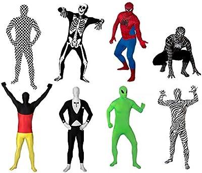 Original FUNSUIT - Disfraz de segunda piel (pegado al cuerpo) Carnaval Halloween - Talla S / M / L / XL / XXL - Varios diseños