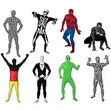 Original FUNSUIT - Disfraz de segunda piel (pegado al cuerpo) Extraterrestre Carnaval Halloween - Talla S / M / L / XL / XXL [L] - Varios diseños