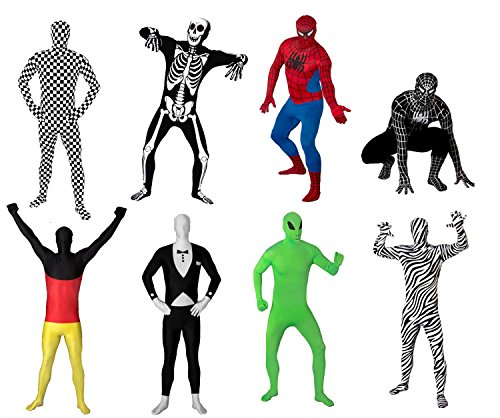 (Original FUNSUIT Spider Ganzkörperanzug Anzug Kostüm in rot Gr. S / M / L / XL / XXL [S])