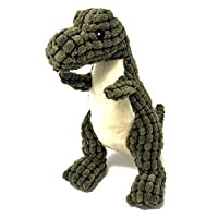Petpany Dog Squeaky Toy Soft Pet Chewing plush Toy with Dinosaur Shape and Squeaky Design,Funny Interactive Sound Teething Toys