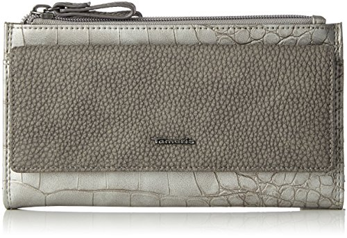 Tamaris Damen Daisy Big Snap Wallet Geldbörse, Silber (Silver Comb), 3.5x11x20 cm
