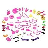 Yinew 55 PCS Baby Kleinkind Spielzeug Cartoon Barbie Puppen DIY Spielzeug Zubehör Spielzeug