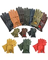 PRIME LEATHER TOP QUALITY REAL SOFT LEATHER MENS WITHOUT LINNING DRIVING GLOVES RETRO GLOVE IN TEN BEAUTIFUL COLOURS