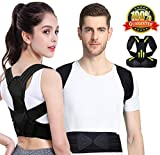 Viixm Posture Corrector, Spinal Support Back Brace Adjustable Lumbar Shoulder Support Belt Strap