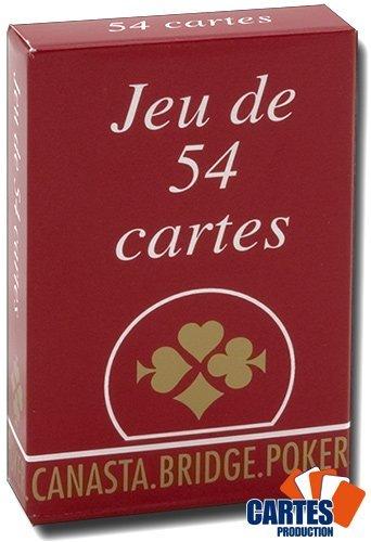 Jeu de 54 cartes : Gauloise Roug