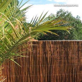 Videx Sichtschutzmatte Weide, dunkel Provence, 180 x 300cm