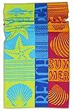 Lashuma Strandtuch Rio | farbenfrohes Duschtuch | hochwertige Sporthandtuch | saugstarkes Frottee Badetuch | 75 x 150 cm