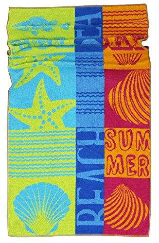 Lashuma Strandtuch Rio | farbenfrohes Duschtuch | hochwertige Sporthandtuch | saugstarkes Frottee Badetuch | 75 x 150 cm (Baumwoll-frottee-badelaken)