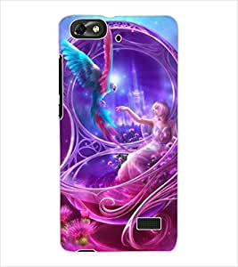 ColourCraft Beautiful Angel Design Back Case Cover for HUAWEI HONOR 4C
