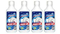 BlueOxy 500ml Auto Dishwasher Rinse Aid Bottle: Pack of 4 | Non-Toxic & Biodegradable | Quick Shine & Fast Drying Action | Prevents Spotting |Brilliant & Sparkling Finish | liquid dish washing soap | dishwasher detergents | dish washer rinse aid liquid