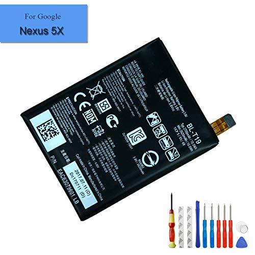 E-yiiviil BL-T19 Li-ion Replacement AKKU kompatibel für Google Nexus 5X H791 H790 2620mAh 3.8V with Installation Tools