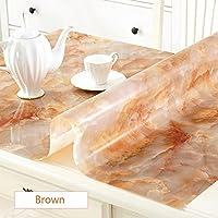 """magilona Home redondo Mantel impermeable PVC 1,5mm de grosor pantalla para mesa/escritorio tabla Pads mesa cubre protección contra el calor tamaño personalizado, 02, 28x47""""(70x120cm)"""