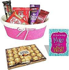 24 Pieces Ferrero Rocher With Cadbury Chocolate Combo, Birthday Gift 5094
