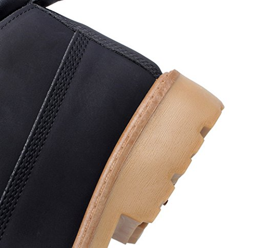 La Vogue Bottes Boots Bottines Désert Homme Mode Fourrées Montantes Hiver Chaude Casual Noir