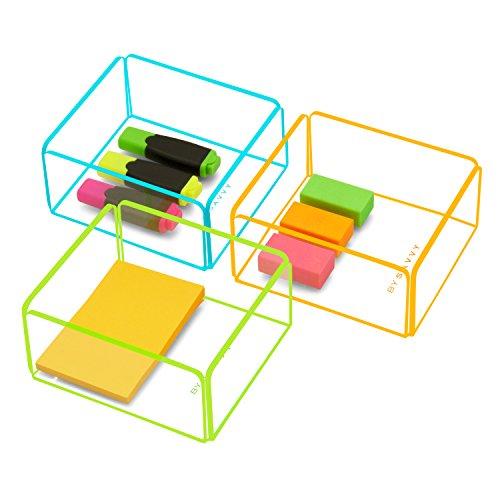 Disponible en 3 combinaisons de couleurs en acrylique transparent avec coloré \\