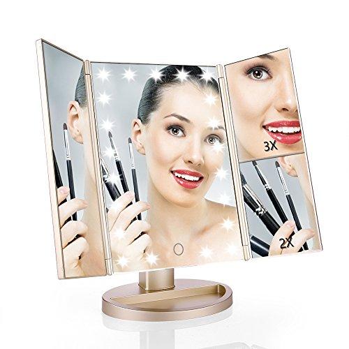 Schönheit & Gesundheit Haut Pflege Werkzeuge Led-leuchten Platz Make-up Spiegel Faltbare Doppelseitige Kosmetik Spiegel Frauen Make-up-tools Online Rabatt