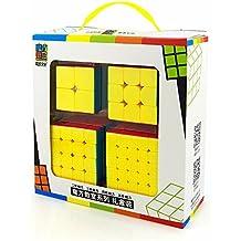 HJXDtech- Nuevo !! Moyu MF9301 Cubo mágico de velocidad profesional Juego de 2x2 3x3 4x4 5x5 con paquete de caja de regalo