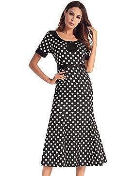 SJMMQZ Vestido y falda de cola de pescado de la vestimenta de las mujeres europeas y americanas