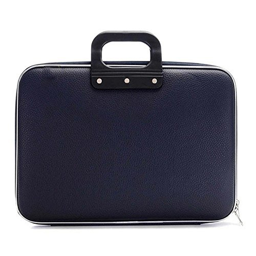 Sterling Cady Collection Durable Briefcase Carrying Case for 15.6 in Laptops / Notebooks (Blue) With Shoulder Strap