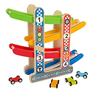 ColorBaby Play&Learn Circuito coches madera Multicolor (46215)