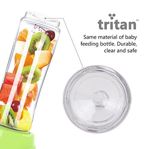 lista dei prezzi Aigostar Greenberry 30JHU – Frullatore Smoothie Maker, 600W, con 2 bottiglie viaggio in Tritan da 600ml e 1 tubi frigoriferi, Mini Frullatore BPA FREE. Design esclusivo.