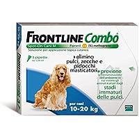 ANTIPARASSITARIO FRONTLINE COMBO 3 DOSI CANI MEDI 10-20 KG SPOT ON ANTIPULCI