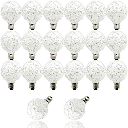 G953W E27Warm White Glühbirne Edison LED Bulb Energiesparend von Globe Ball für Patio Cafe Market Veranda Party Pavillon Wedding Courtyard, 20Stück -