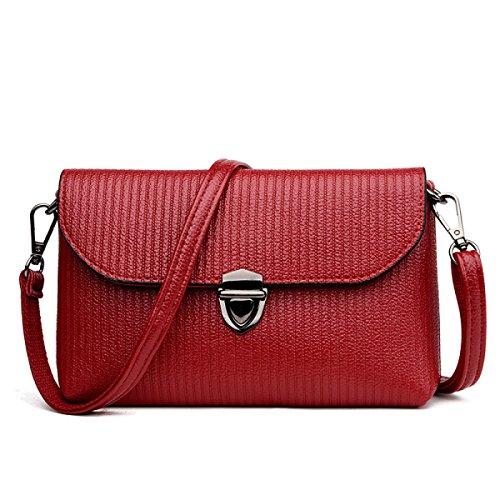 Borsa A Tracolla Moda Donna Messenger Bag Dhfud Piccolo Pacchetto Quadrato Rosso
