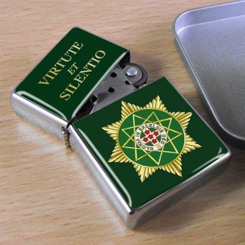 Preisvergleich Produktbild Freimaurer-Royal order of Scotland Acetone Feuerzeug, in Geschenkbox